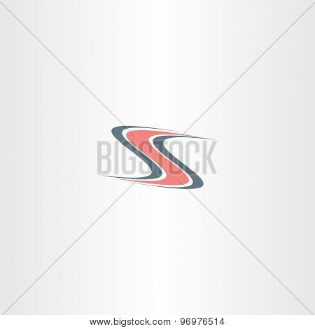 Hot Road Highway Letter S Logo
