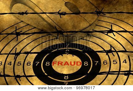 Fraud Target And Mouse On Grunge Background