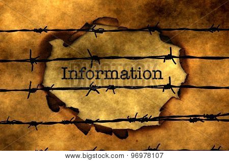 Information Concept Against Barbwire