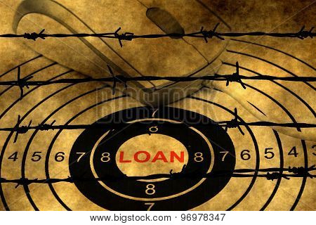 Loan Target Concept Against Barbwire