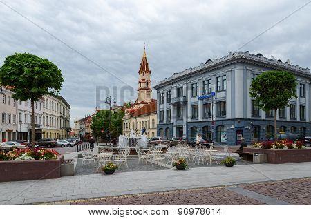 Vilnius, Street Didzioji, Building