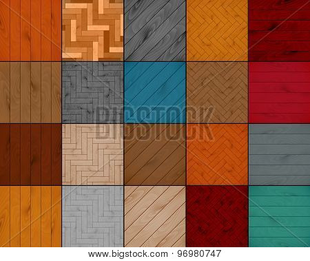 set wooden texture background of parquet. vector illustration eps10