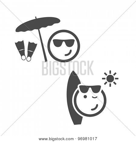 Beach Time - Emoticon Set