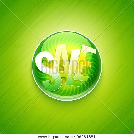 Green Sale Offer Pin