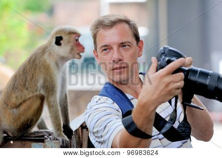 Photographer Shows A Monkey