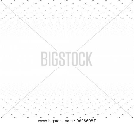 Perspective grey and white grid. Surface with circles. Vector illustration.
