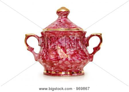 China Jar Isolated On The White Background
