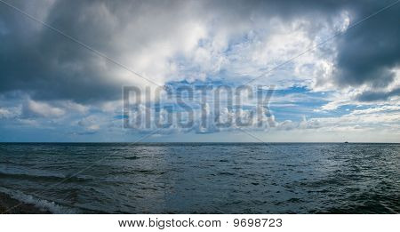 Stormy Sky And Sea