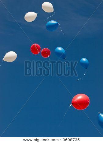 Balloons Flying