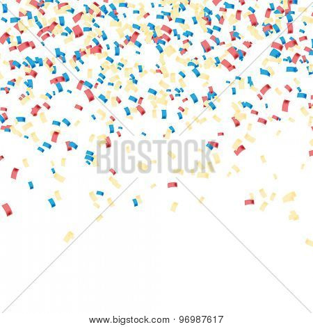 Confetti colorful. Celebratory Background. Illustration Vector EPS10