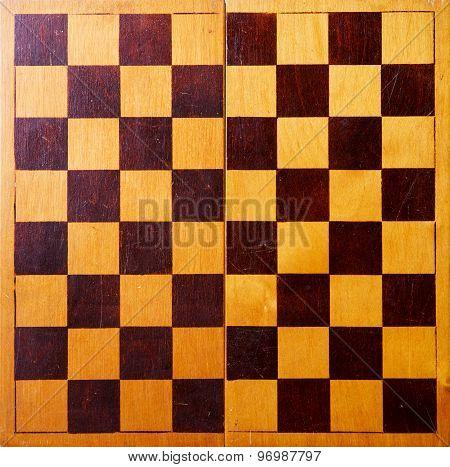 Retro Wooden Chessboard