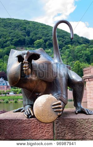 The Bronze Monkey Sculpture