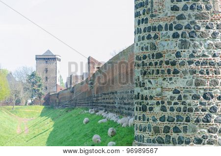 Medieval Wall With Sharp