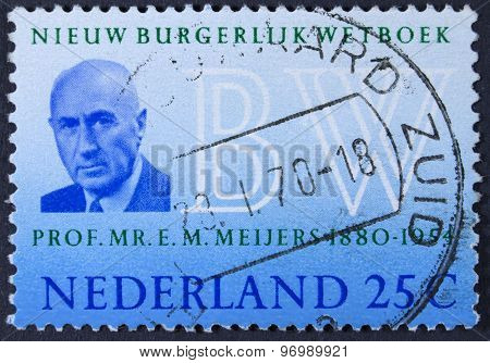 Famous professor on a postage stamp
