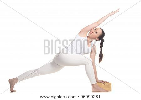 Revolved Side Angle Pose For Beginning Yoga Student