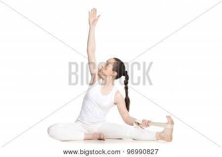Yoga With Props, Parivrtta Janu Sirsasana
