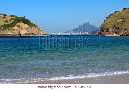 Copacabana beach view from Niteroi