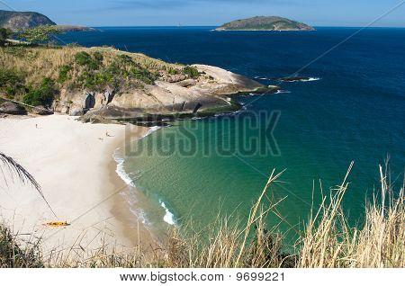Crystalline desert beach in Niteroi Rio de Janeiro Brazil