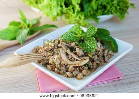 Minced Pork Salad Is Thai Food Ready To Serve