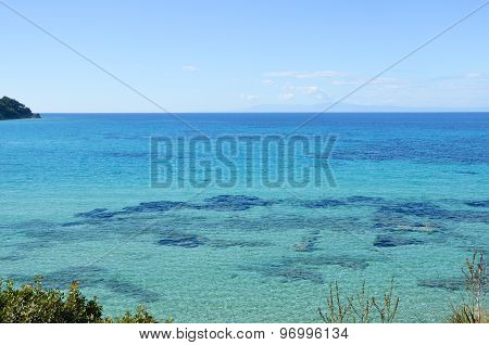 Beautiful Turquoise Transparent Mediterranean Sea