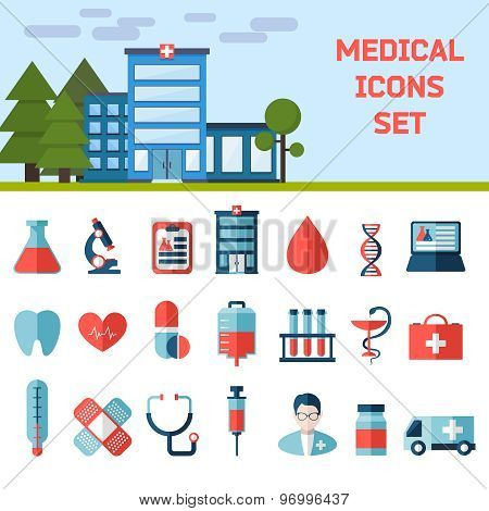 Medical Flat Infographic Background