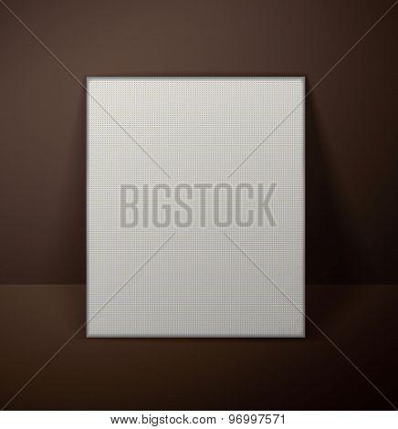 Blank art canvas template dark background