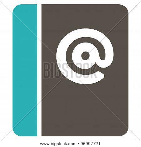 Emails Flat Icon From Business Bicolor Set