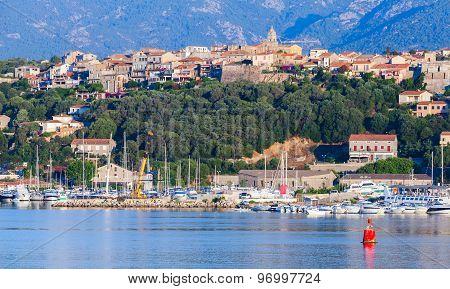 Porto-vecchio, Coastal Cityscape With Yachts