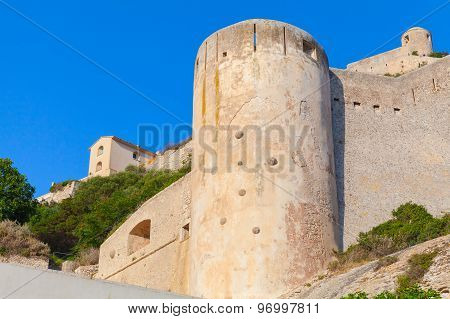 The Citadel At Bonifacio, Corsica, France