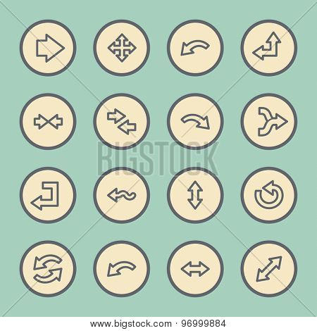 Arrows web icons set