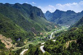 foto of plateau  - Dong Van Karst Plateau Global Geopark is located in the northeastern province of Viet Nam - JPG