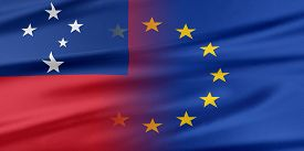 stock photo of samoa  - European Union and Samoa - JPG