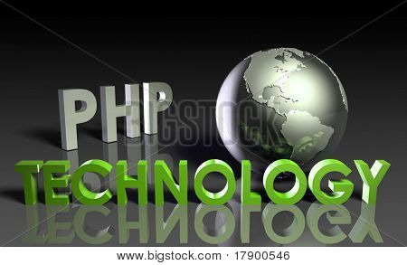 PHP Technology Internet Abstract as a Concept