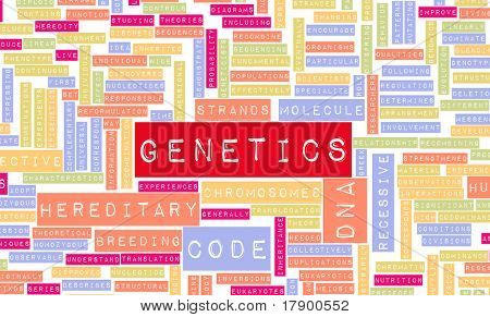 Genetics and the Genetic Code Science Concept