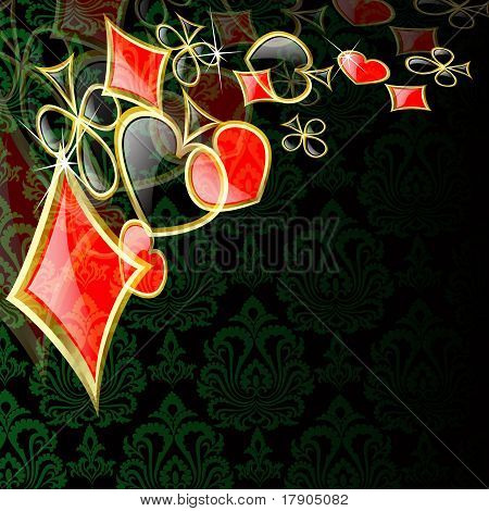 the vector abstract play card background