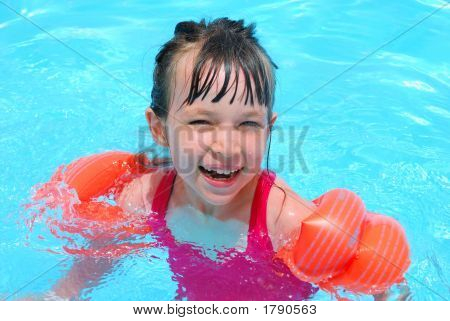 Happy Swimming Girl