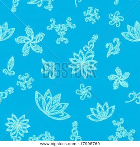 Abstract blue seamless background