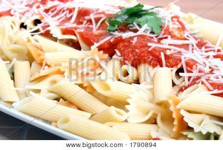 Macarrones con salsa de tomate