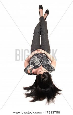 Girl Lying On Back.