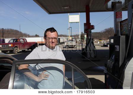 Man Draws Gas