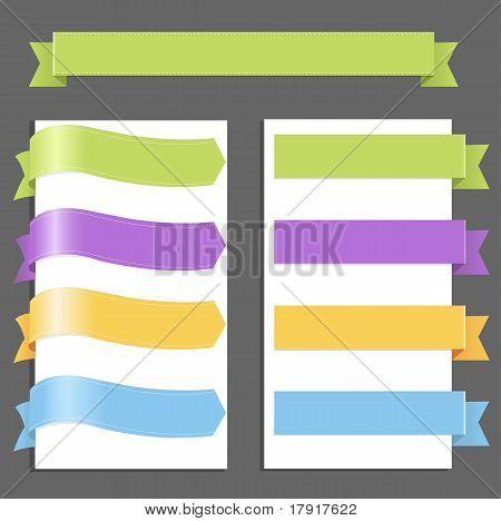 Conjunto de cintas de colores pasteles