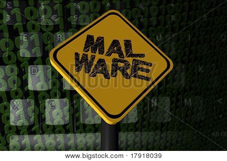 Malware Warning Sign On Binary