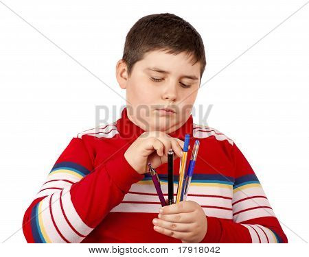 Child With Pens