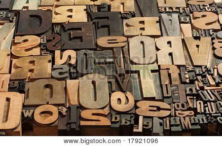 Fundo de casos vintage madeira imprimir letra