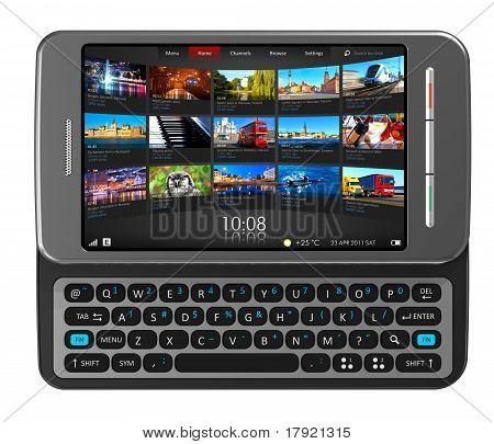 Seite-Schiebereglers-Touchscreen-smartphone