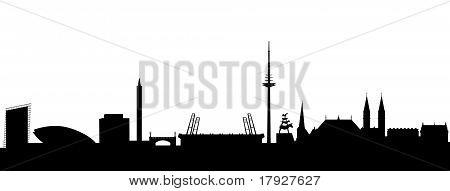 Bremen Silhouette black