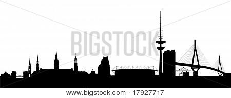 Hamburg Silhouette black abstract