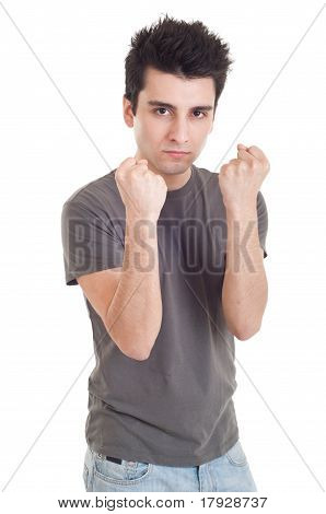 Man With Fight Expression