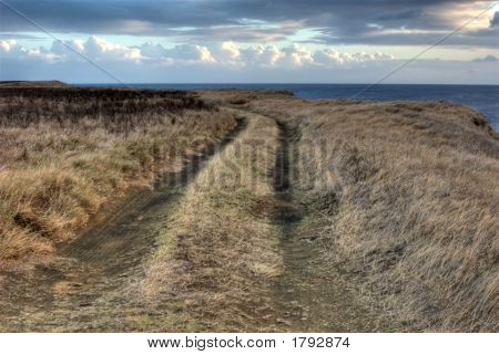 Local Road. Landscape Orientation.