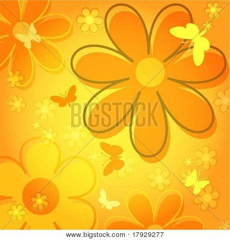 Summer flowers - vector